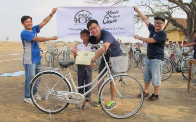 Bike Donation in Kampong Cham, Cambodia